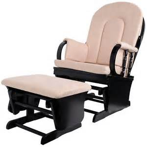 rocking chair nursing mother and ottoman wooden soft beige