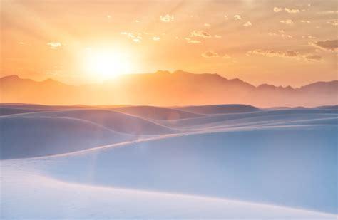 Wallpaper Sunrise, White Sands, New Mexico, 4K, 8K, Nature
