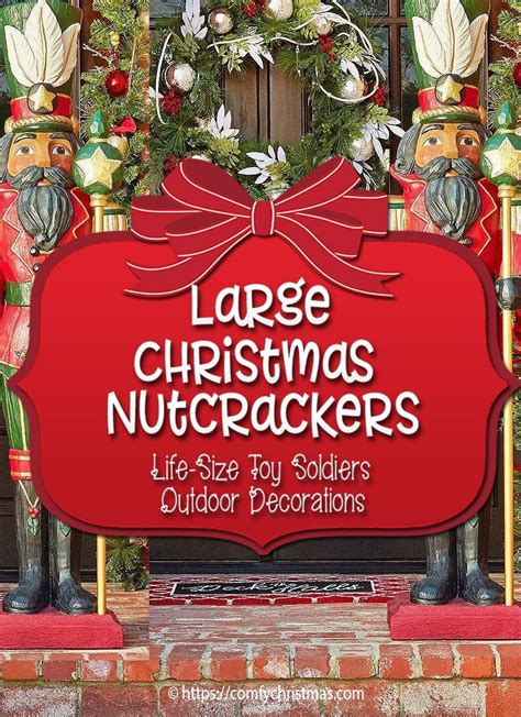 large outdoor nutcracker decoration life size nutcracker
