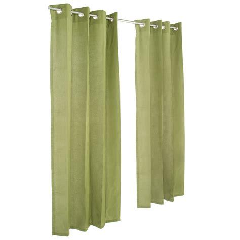 spectrum cilantro grommeted sunbrella outdoor curtains