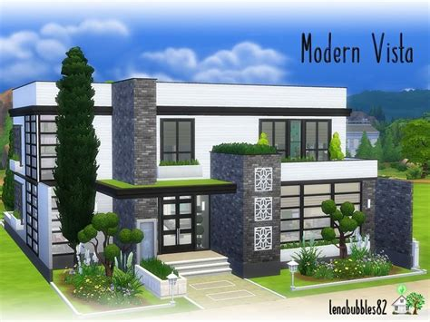 Lovely modern two story house for your sim family Found in