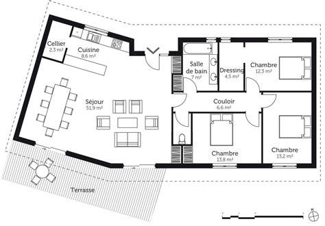 plan maison en v avec 3 chambres ooreka