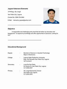 Resume For Ojt Im Looking For Ojt Company C Im Electronics Student