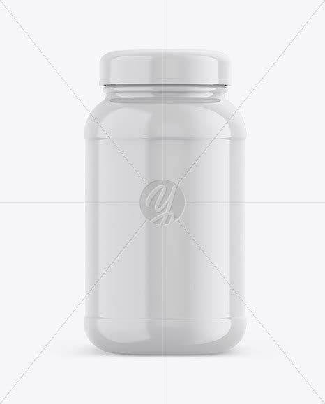 On this page, you will find more various plastic bottle mockup such as: Glossy Plastic Protein Jar Mockup - Front View in Jar ...