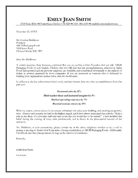 job offer letter format  sales executive executive job