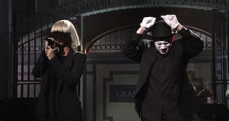sia chandelier live on snl metatube