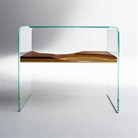 clear glass bedside table bifronte bedside table clear by horm