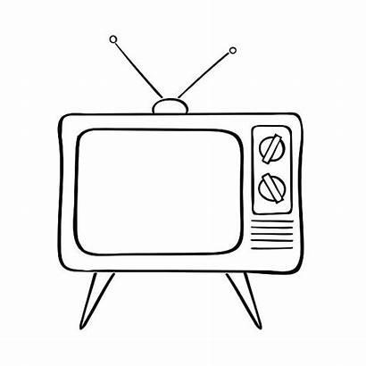 Tv Clipart Vector Clip Illustration Drawing Station