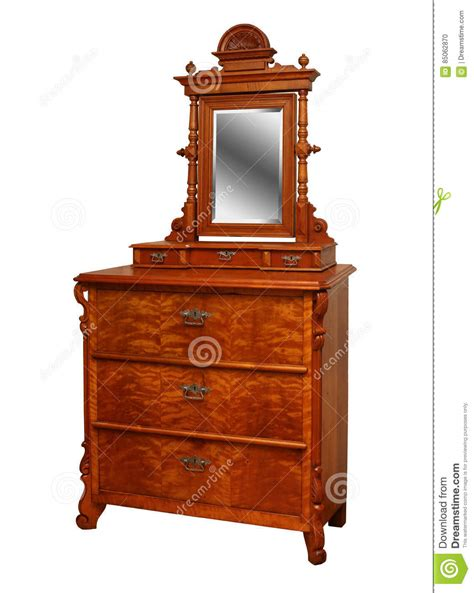chest of drawers with mirror vintage antique chest of drawers with a mirror stock