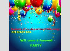 CS Department Welcome And Farewell Party For New Comers