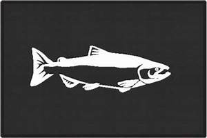 Chinook Salmon Silhouette Door Mats