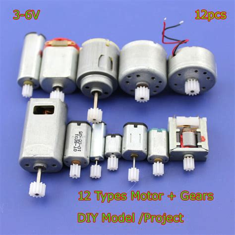 Smallest Electric Motor by 12pcs Dc 3v 6v Mini 130 Micro Dc Motor Gear Small