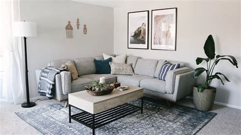 living room apartment makeover laying  furniture tips