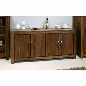 mayan large low living dining room sideboard solid walnut With living room furniture walnut wood