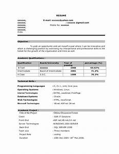 Fresher resume sample7 by Babasab Patil