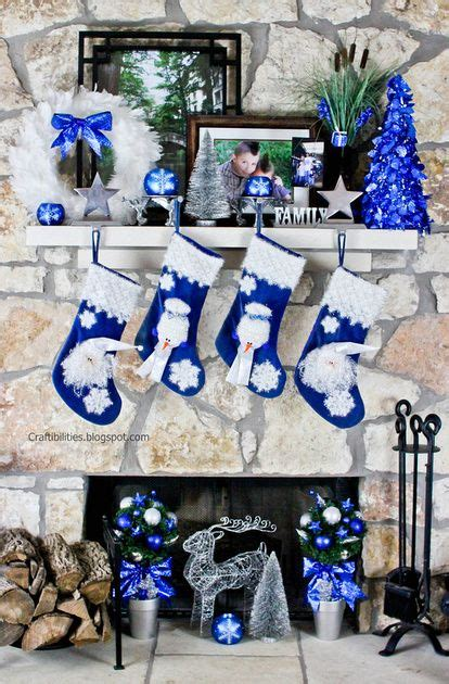 top blue  white blue  silver christmas decorations