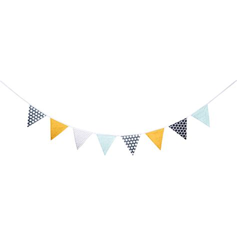 luminaire chambre fille guirlande de fanions bleu jaune gris neo kid 39 s concept