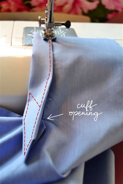 sew  shirt sleeve placket  cuff pauline alice