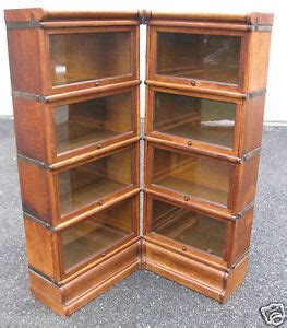 Globe Wernicke Barrister Bookcase Value by Corner 3 4 Antique Oak Barrister Bookcase Set Globe