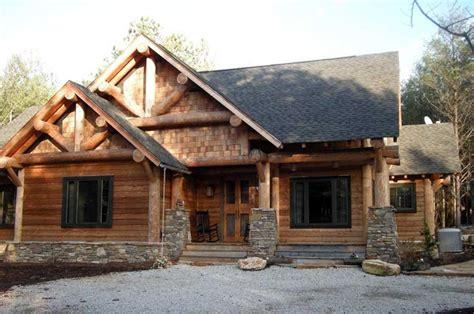 cabin craftsman log house plan