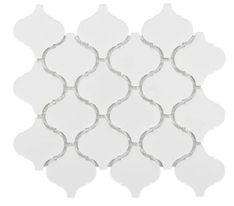 white arabesque tile arabesque lantern beacon glossy white ceramic mosaic wall tile
