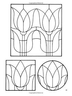 Floral Stained Glass Pattern Book 4 silhouette papercutting scherenschnitte