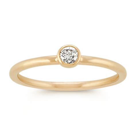 diamond stackable ring   yellow gold shane
