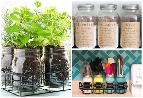 jar kitchen storage 15 creative inexpensive jar kitchen storage ideas 7395