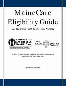 Mainecare Eligibility Guide 2016 By Mainecahc