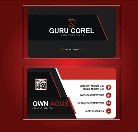 template id card format coreldraw cdr guru corel