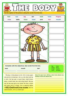 body parts poster classroom freebies bodies