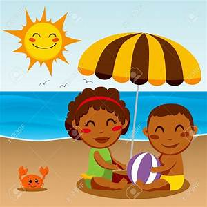 Sitting on The Beach Clipart (55+)