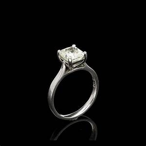 square cut diamond platinum ring 204ct jewellers miltons With wedding rings square cut diamond