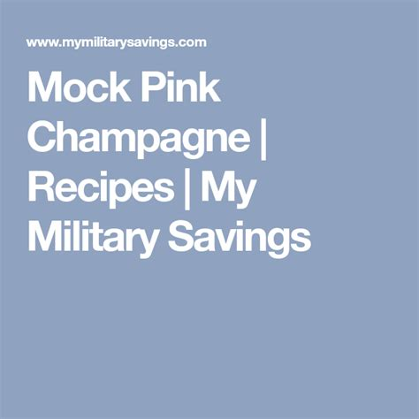 Stir cranberry, pineapple, and orange juice, and chill. Mock Pink Champagne   Recipes   My Military Savings