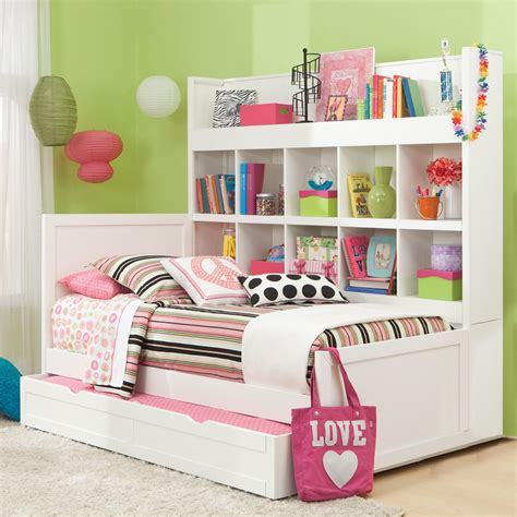 Bed Bookcase by American Woodcrafters Smart Solutions Panel Bed Bookcase