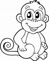 Monkey Animals Vector sketch template