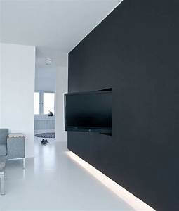 Tv Wand Design : black tv wall hidden designs ~ Sanjose-hotels-ca.com Haus und Dekorationen
