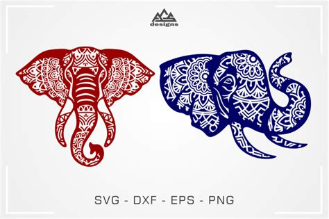 Free instant download of layered mandala alphabet letters with pretty floral elements. Elephant Head Mandala Svg Design By AgsDesign ...