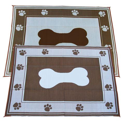 fireside patio mats doggy chocolate 9 ft x 12 ft