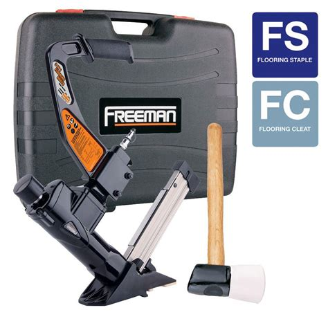 freeman 3 in 1 flooring air nailer and stapler pfl618br