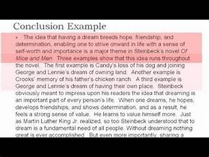 thematic essay examples thematic essay 4 the conclusion youtube