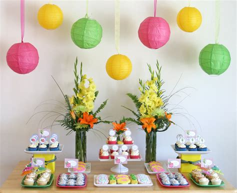 {parties} The Lange Luau  Glorious Treats. Used Dining Room Sets. Decorative Wall Plates Set. Home Decorations. Halloween Scene Setters Room Rolls. Decorations For Bathrooms. Decorate My Home. Classroom Banners Decorations. Holiday Decor