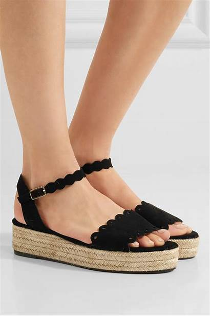 Platform Espadrille Sandals Suede Ana Castaner Porter