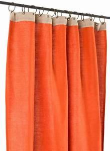 Rideau Toile De Jute : jute rideau en toile orange ~ Teatrodelosmanantiales.com Idées de Décoration