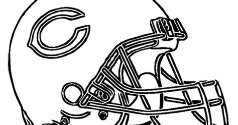 football helmet chicago bears coloring page kids coloring pages pinterest helmets  bears