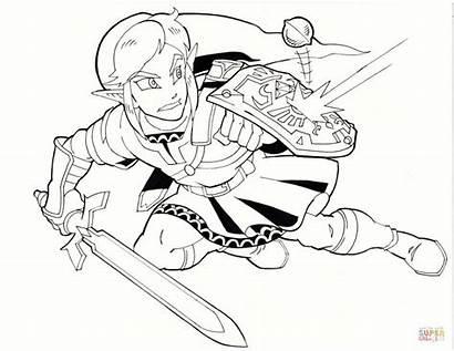 Zelda Coloring Ausmalbilder Link Legend Colouring Dessin