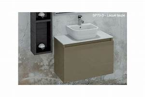 Petit Meuble Lavabo : lavabo c ramique sur plan en solid surface int gr un meuble tiroir suspendu 70cm x 44cm ~ Teatrodelosmanantiales.com Idées de Décoration