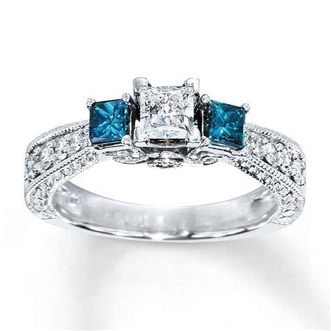 incredible blue diamond engagement rings zales matvuk com