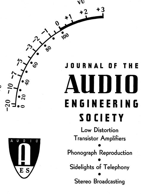 AES E-Library » Complete Journal: Volume 11 Issue 2