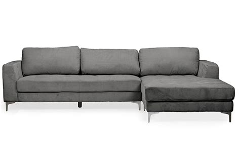 Gray Contemporary Sofa by Baxton Studio Agnew Contemporary Grey Bonded Leather Right